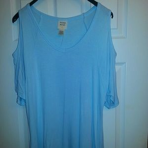 Cold Shoulder Baby Blue Tunic